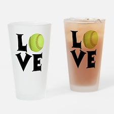 Love - Softball Drinking Glass