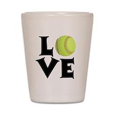 Love - Softball Shot Glass