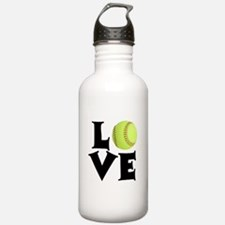 Love - Softball Water Bottle