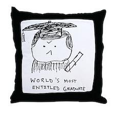 Cute College grad Throw Pillow