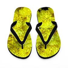 Yellow Mum Flip Flops