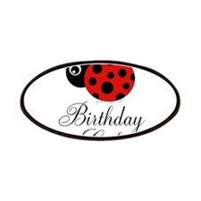 Red and Black Birthday Girl Ladybug Patches