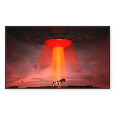 UFO VS Cow Decal