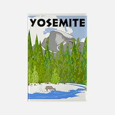 Yosemite Travel Poster Rectangle Magnet