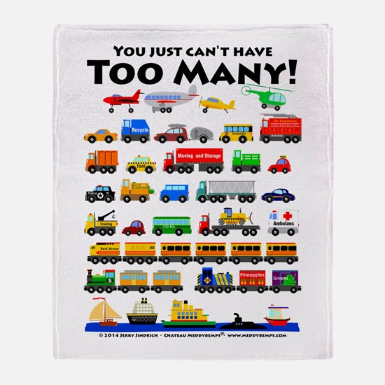 Too Many! Throw Blanket