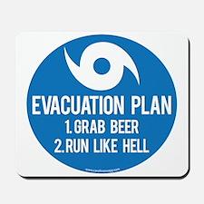 Hurricane Evacuation Plan Mousepad