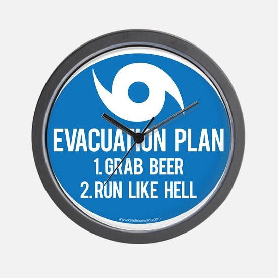 Hurricane Evacuation Plan Wall Clock
