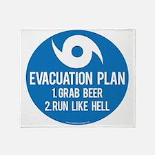 Hurricane Evacuation Plan Throw Blanket