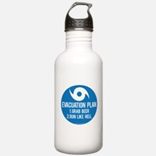 Hurricane Evacuation Plan Water Bottle