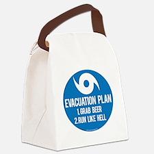 Hurricane Evacuation Plan Canvas Lunch Bag
