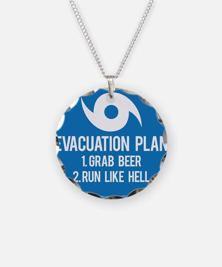 Hurricane Evacuation Plan Necklace