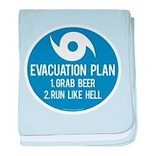 Hurricane Evacuation Plan baby blanket