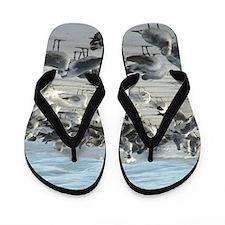 Sea Gulls Flip Flops