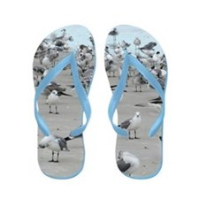 Fun Sea Gull Flip Flops