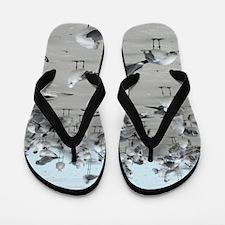 Fun Sea Gull Flip Flops