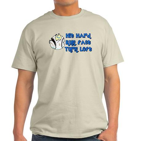 Hit Hard Run Fast Turn Lef Light T Shirt Hit Hard Run