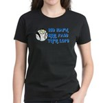 Hit Hard, Run Fast, Turn Left Women's Dark T-Shirt