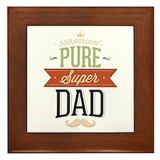 100 Percent Pure Super Dad Framed Tile