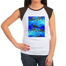 Dragonfly Flit electric Women's Cap Sleeve T-Shirt