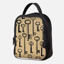 Old Keys Pattern Neoprene Lunch Bag