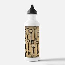 Old Keys Pattern Water Bottle