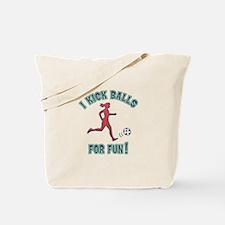 Women's Soccer I Kick Balls For Fun Tote Bag