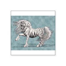 "Cute Tiger horse Square Sticker 3"" x 3"""