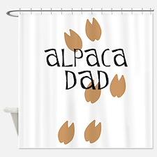 Alpaca Dad Shower Curtain