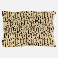 Old Keys Pattern Pillow Case