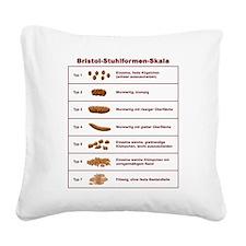 Bristol-Stuhlformen-Skala Square Canvas Pillow