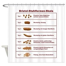 Bristol-Stuhlformen-Skala Shower Curtain