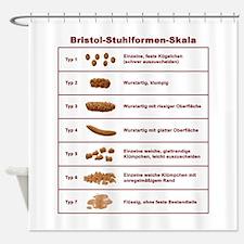 Bristol-Stuhlformen-Skala Shower Curtain