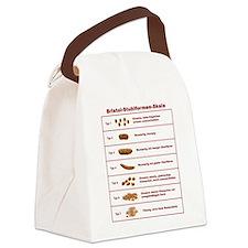 Bristol-Stuhlformen-Skala Canvas Lunch Bag