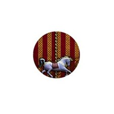 Carousel Horse Mini Button