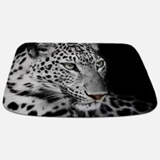 White Leopard Bathmat
