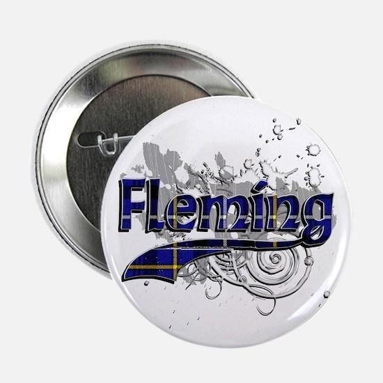 """Fleming Tartan Grunge 2.25"""" Button"""