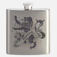 Fleming Tartan Lion Flask