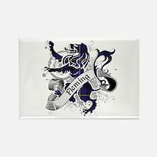 Fleming Tartan Lion Rectangle Magnet
