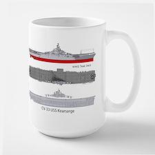 Uss Kearsarge Cv-33 Cva-33 Large Mug Mugs