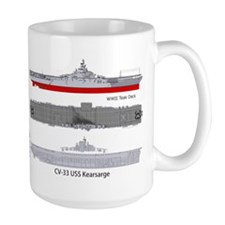 Uss Kearsarge Cv-33 Cva-33 Coffee MugMugs
