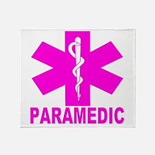 Hot Pink Paramedic Throw Blanket