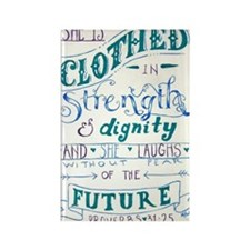 Proverbs 31 Woman Rectangle Magnet