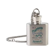 Proverbs 31 Woman Flask Necklace