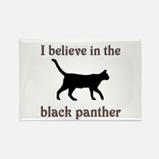 Mystery Black Panther Rectangle Magnet