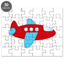 Red and Blue Airplane Puzzle