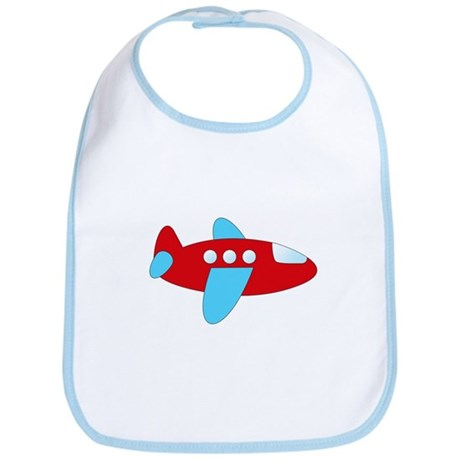 Red and Blue Airplane Bib