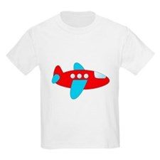 Red and Blue Airplane T-Shirt