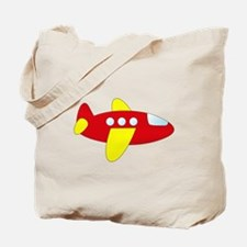 Red and Yellow Airplane Tote Bag