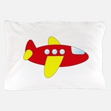 Red and Yellow Airplane Pillow Case