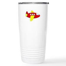 Red and Yellow Airplane Travel Mug